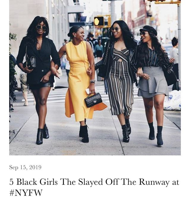 """#NewPostAlert: """"There's something about Black fashion designers and the shows they put on that is just in your face, unapologetic and memorable. And the same can be said for the attendees of these shows..."""" #NYFW is still going, but can we take a moment to applaud the Black woman in the crowds that have being turning heads and killin it over the last 2 weeks? Tap the link in my bio to see who I chose as my 5 Favorite Black Girl Streetwear looks of this season. #heyblkgirl #fashionweek #nyfw #stylist #nycblogger #fashionblogger #streetwear"""