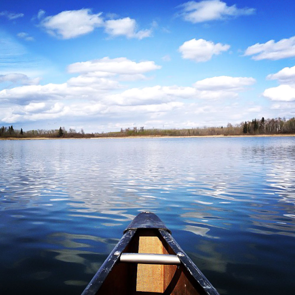 View from the canoe out at Maggie 's Hill Heritage House. Read on for details!