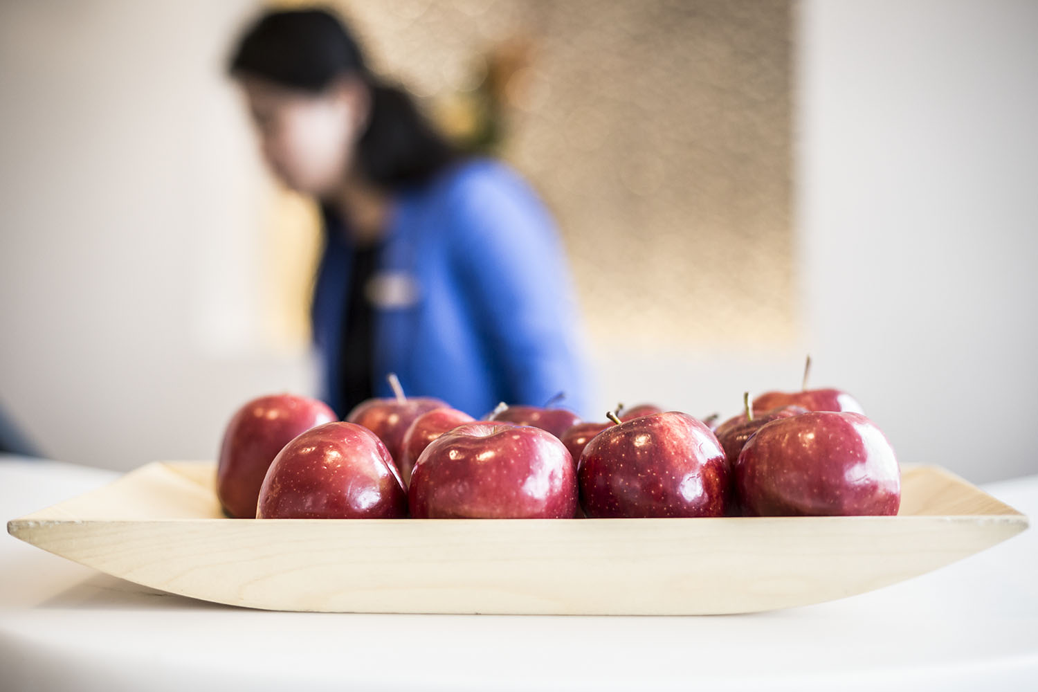 Grab an apple on your way into your Staycation suite at the Renaissance Hotel!