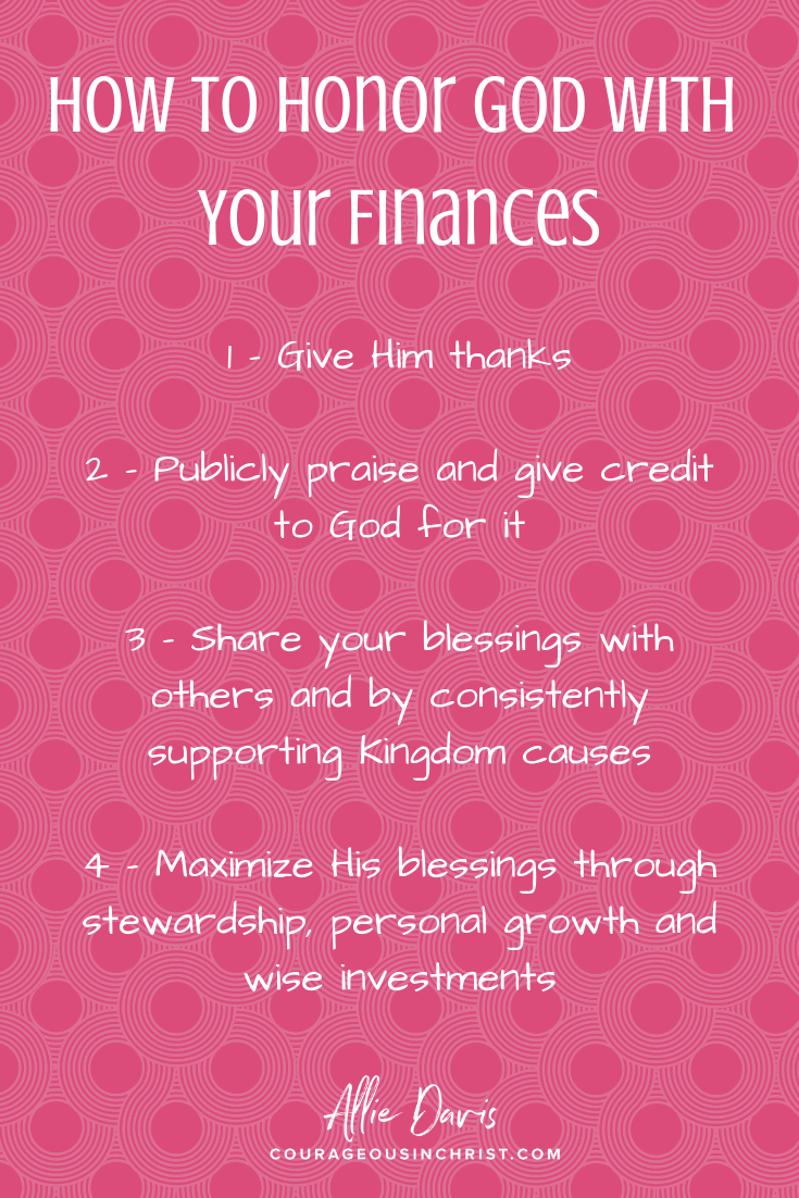 Honor God with finances Christian money pin.png