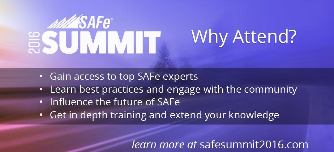 SAFe Summit 2016