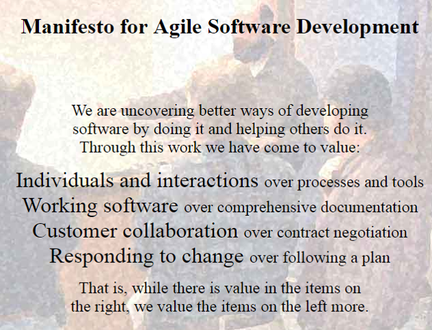 Not the Agile Manifesto - but the
