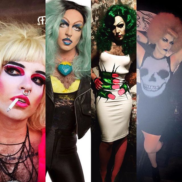 Want a drink tonight? Come get one from @strqwberry at the QUICK N' EASY bar @barmattachine . Fast and dirty. Just the way @strqwberry likes it. Shots beers highballs. DJ RILEY MORE is spinning the best vinyl in #dtla . See you here. xxo #friday #queer #drag #losangeles #cocktails #draaaaanks #tgif #barmattachine
