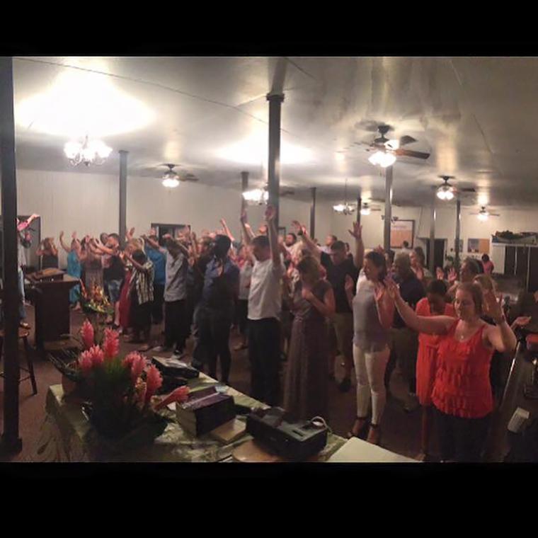 Worship at Keanae