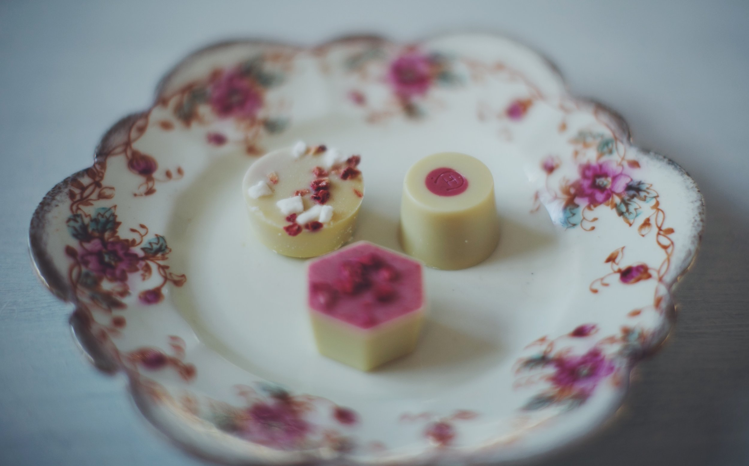 Selection of Selectors:Eton Mess Selector on left, Strawberry Selector on right, Strawberry Cheesecake Selector bottom.