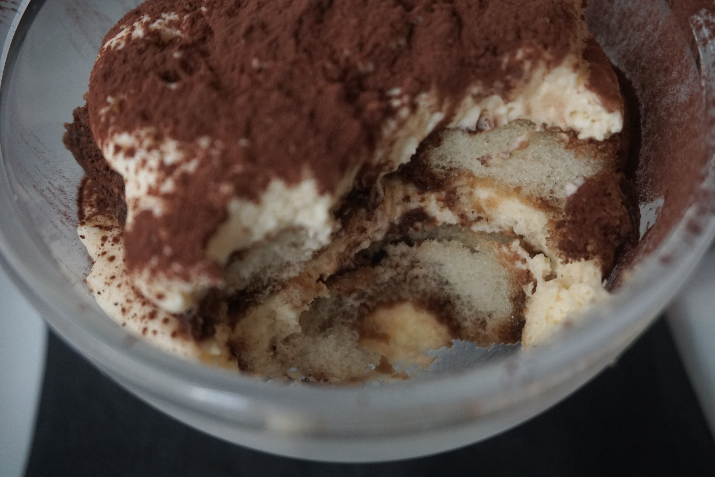 Tiramisu: I loved it. It was small, but after your starter and main, it is perfect. It wasn't bitter, and the amount of cocoa on the top was just right. Do not hesitate to try this.