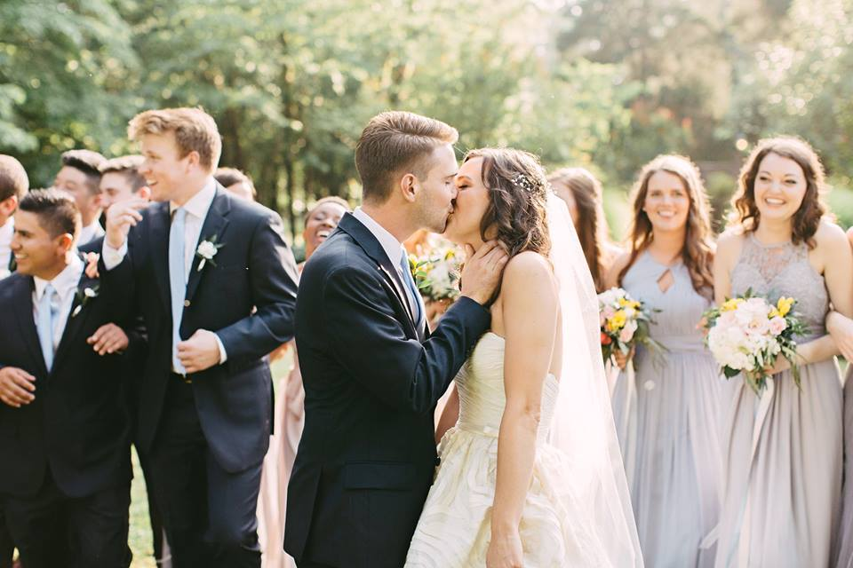 """Jackson kisses his bride after they say, """"i do."""""""