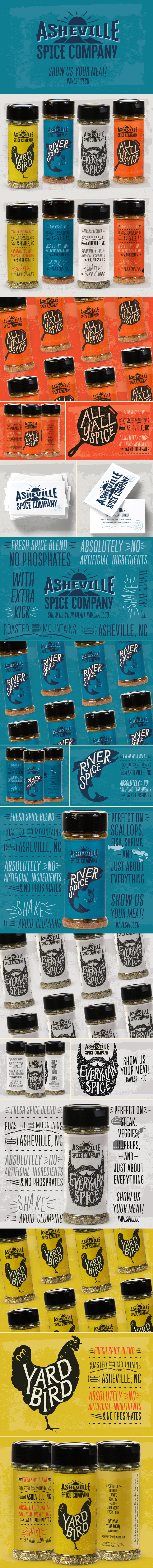 Asheville Spice Company branding and packaging design by Riddle Design Co.