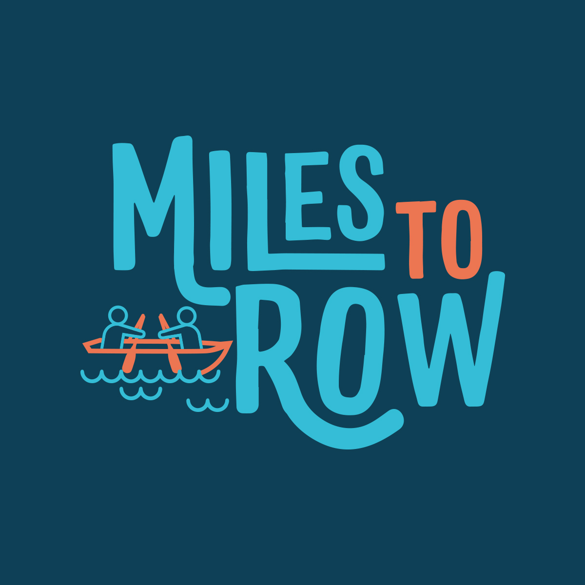 Riddle Design Co branding miles to Row