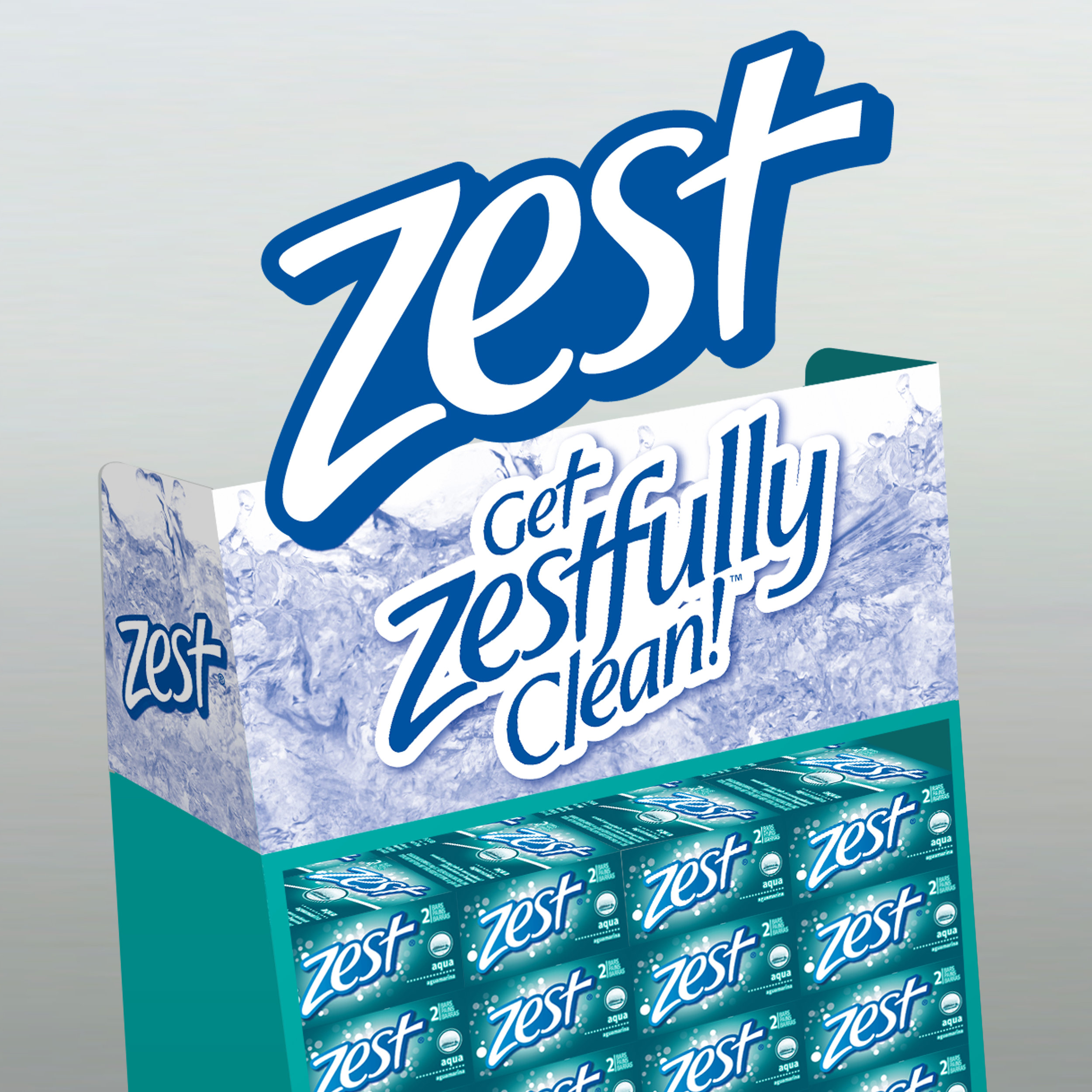 """Zest® Soap Floor Stand Display   The following is placeholder text known as """"lorem ipsum,"""" which is scrambled Latin used by designers to mimic real copy. Class aptent taciti sociosqu ad litora torquent per conubia nostra, per inceptos himenaeos. Nulla eu pretium massa. Nulla eu pretium massa."""