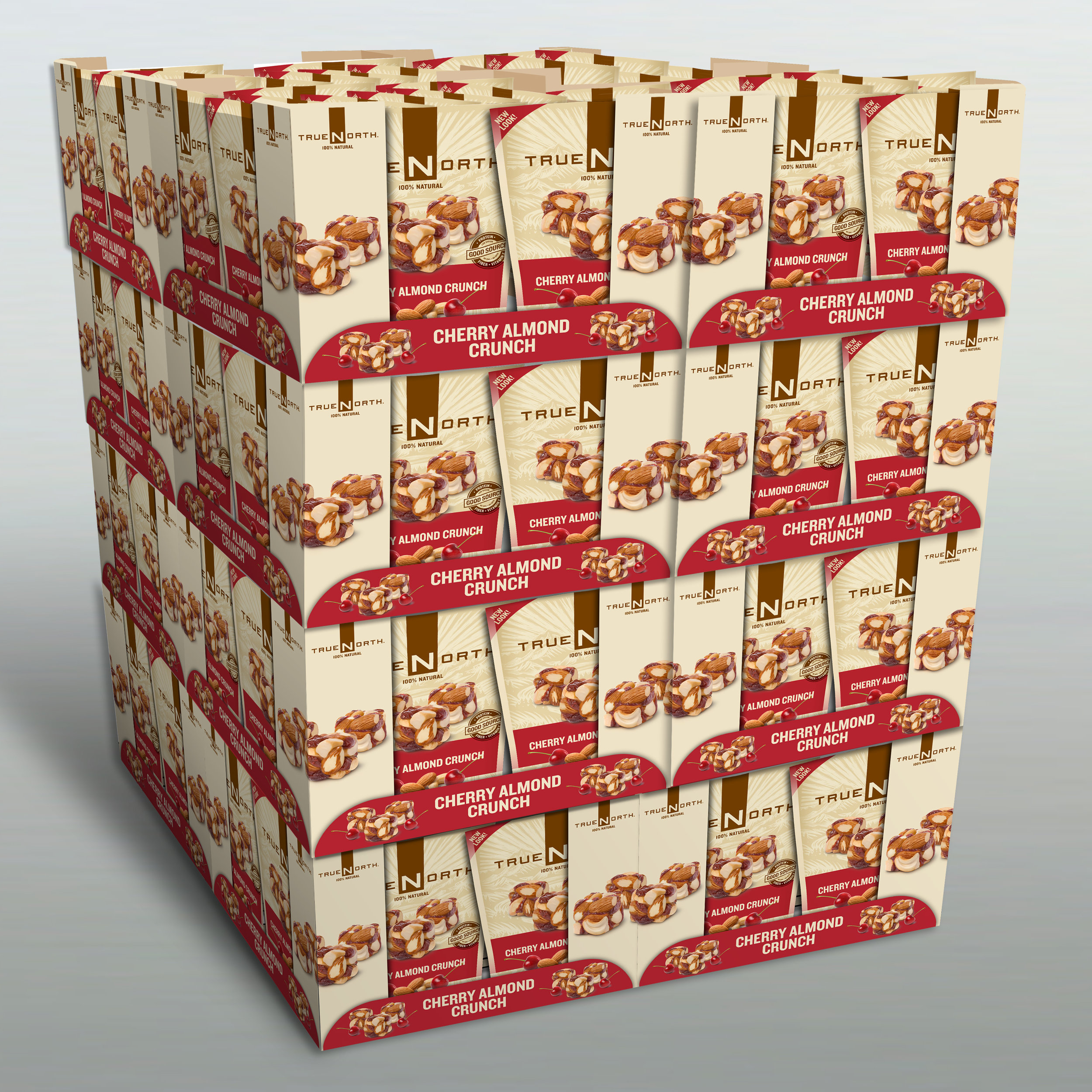 """Truenorth Snacks Pallet Display   The following is placeholder text known as """"lorem ipsum,"""" which is scrambled Latin used by designers to mimic real copy. In sit amet felis malesuada, feugiat purus eget, varius mi. Vivamus a ante congue, porta nunc nec, hendrerit turpis."""