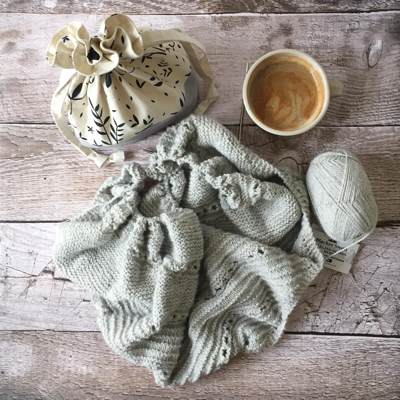Drawstring Knitting Project Bag