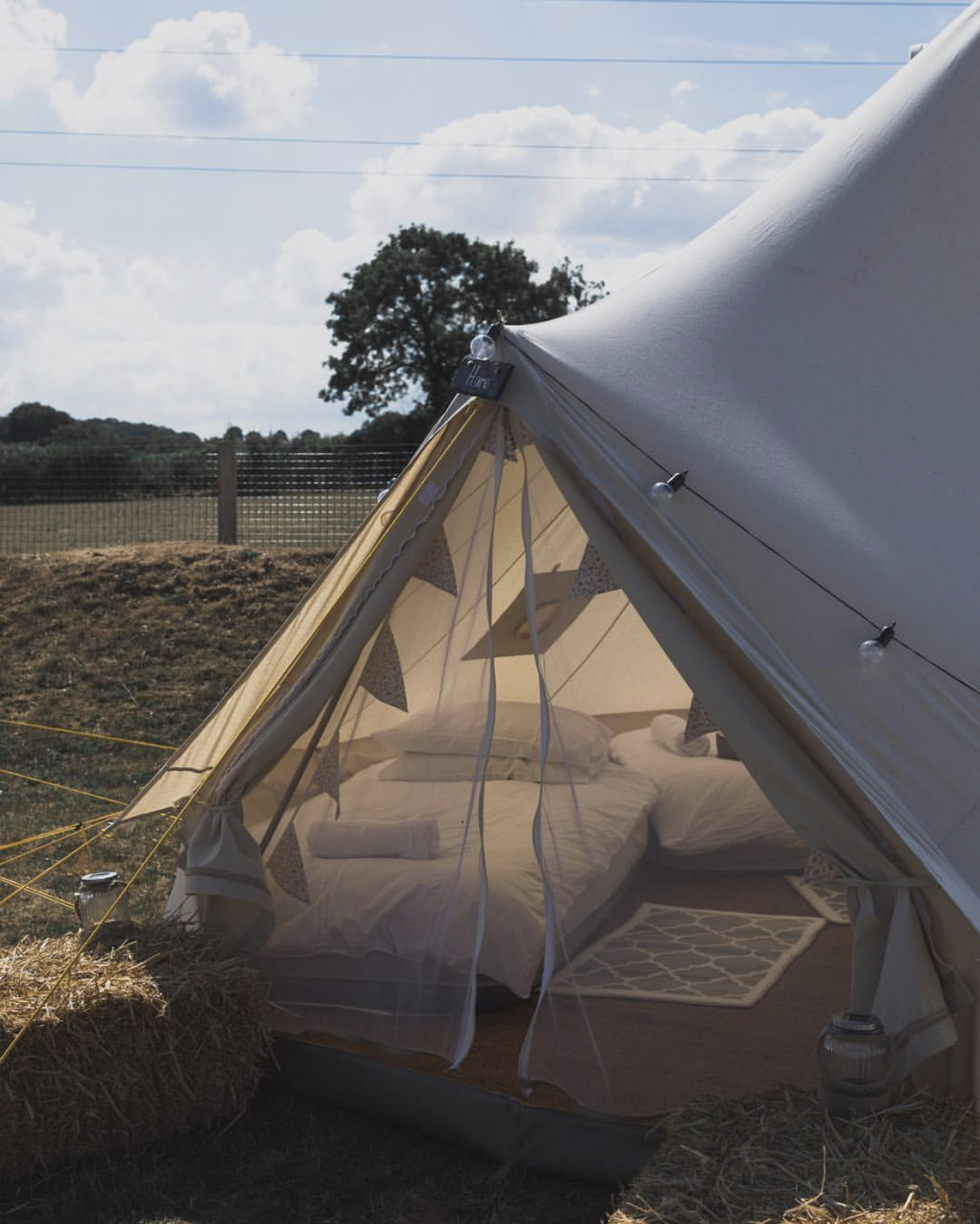 Creativity Festival Hillview Farm Bell Tent Accommodation