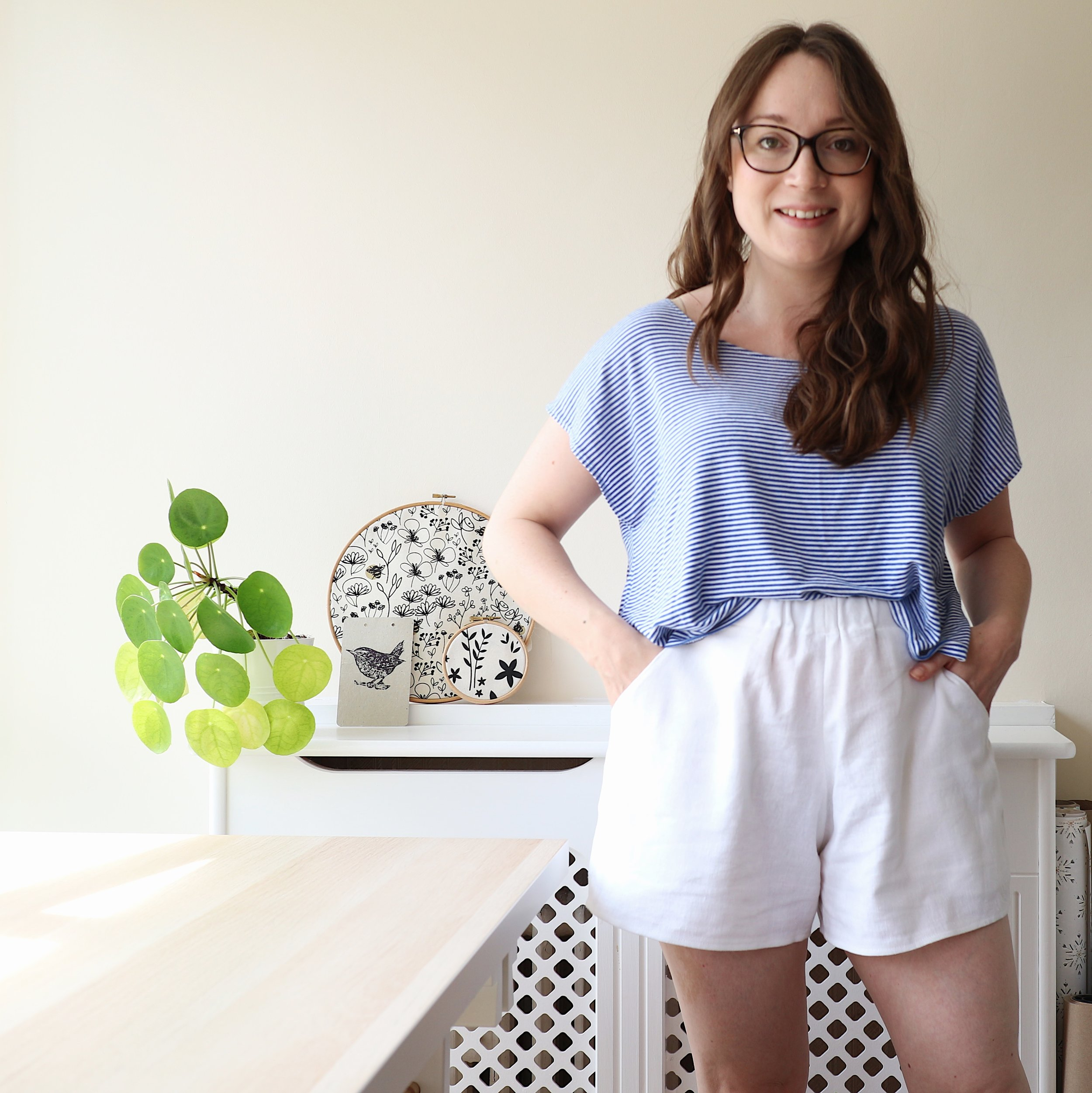 Common Stitch Bellbird Shorts and Grainline Studio Hemlock Tee
