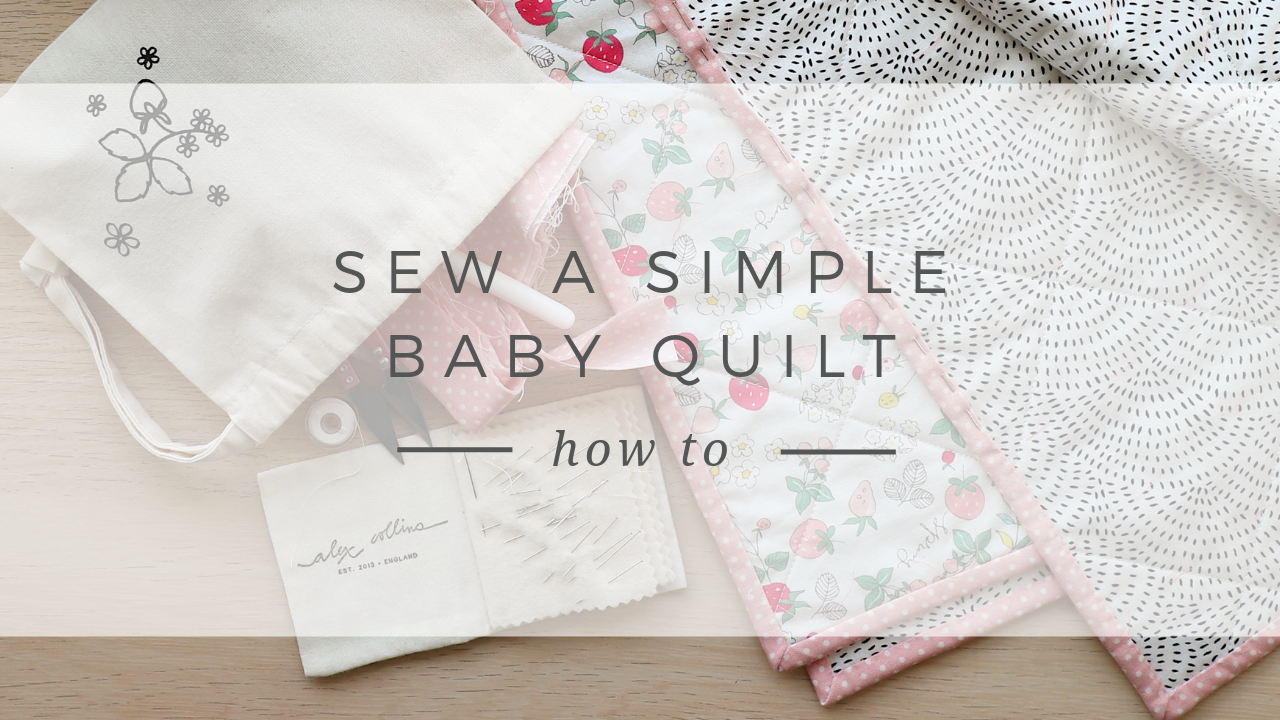 How to sew a simple modern baby quilt
