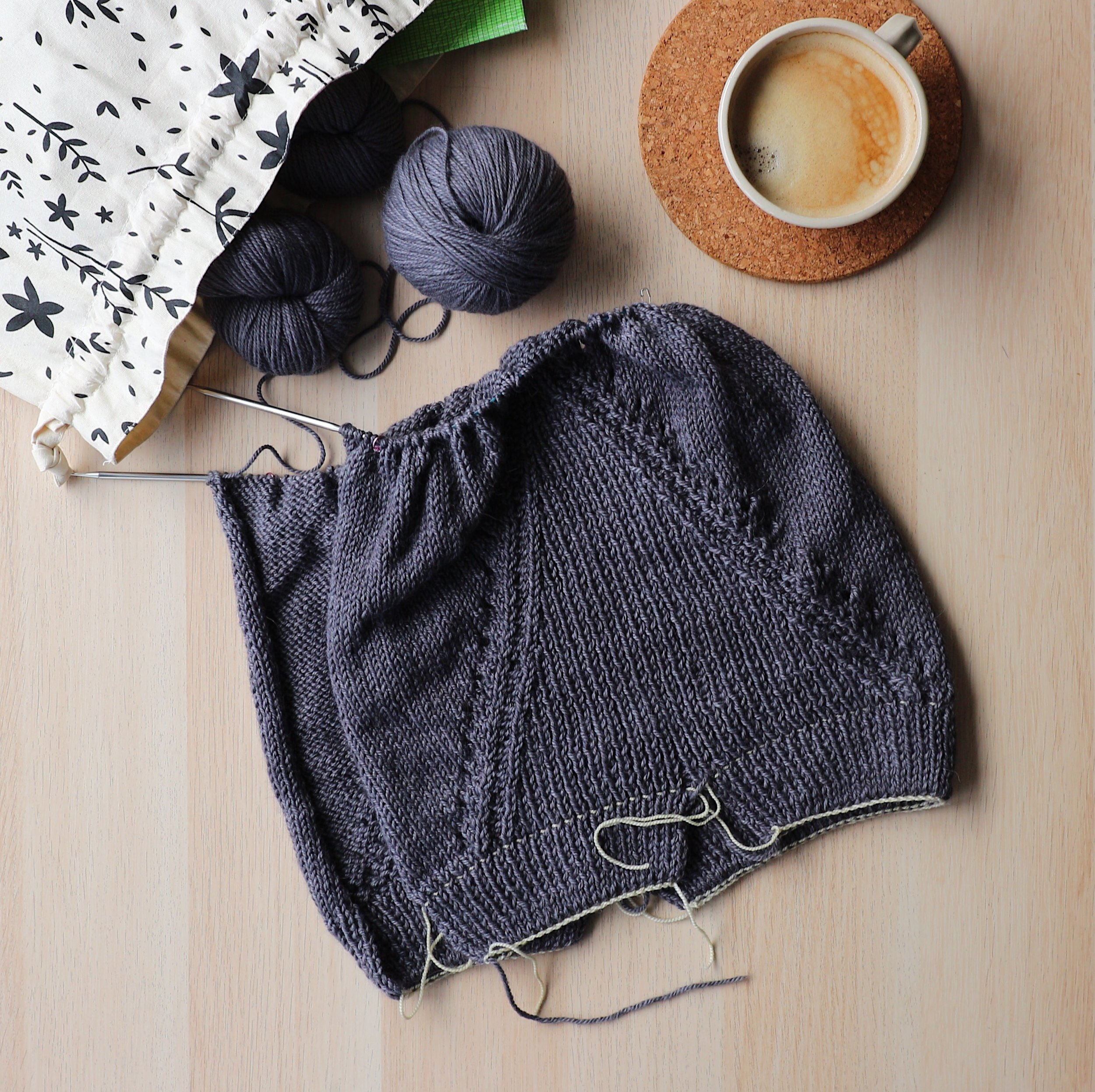 Truss Cardigan knitting project