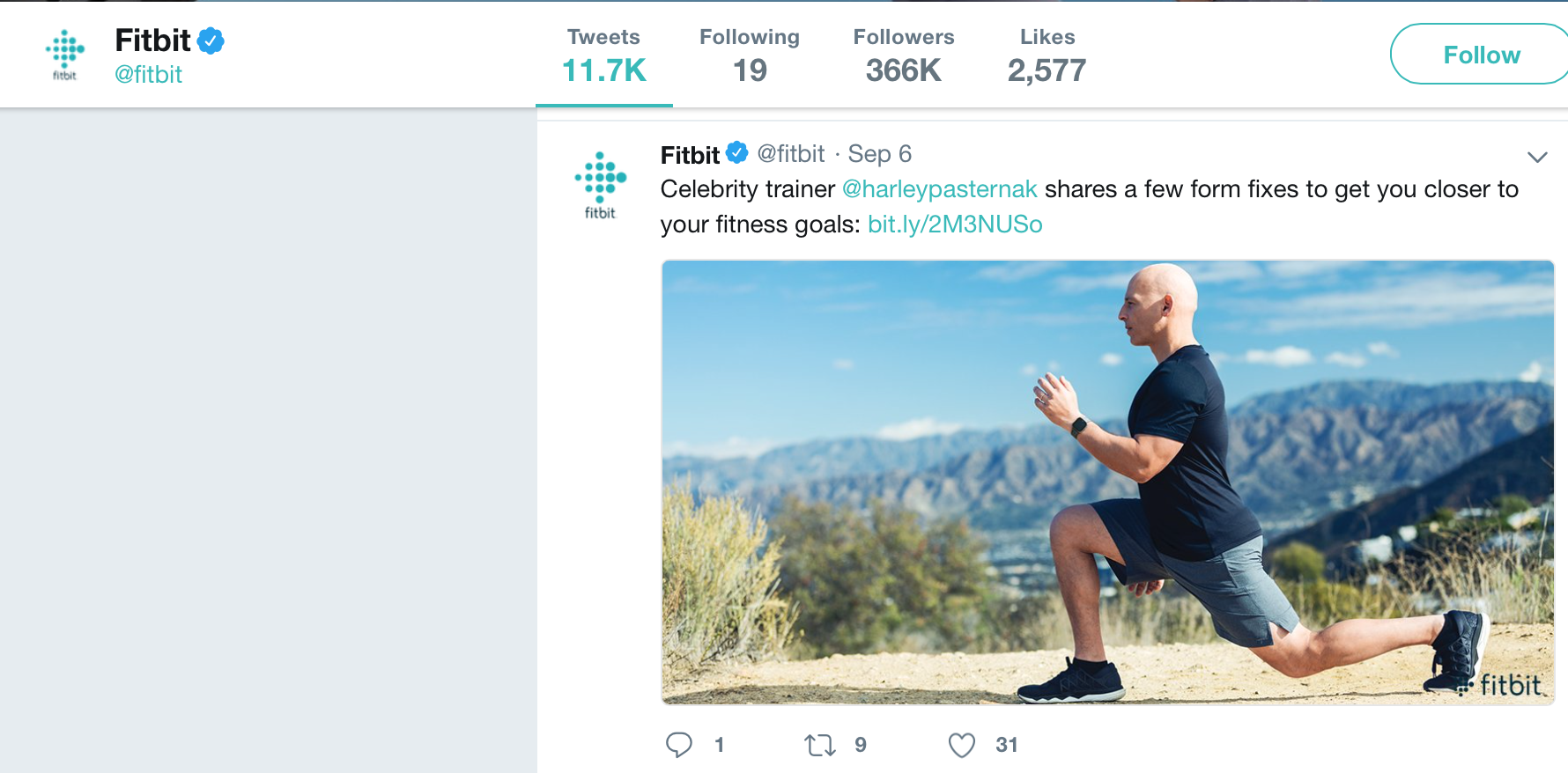 With 69.6K followers, celebrity trainer Harley Pasternak is an major influencer.  This article  teased readers by offering form fixes to common movements such as deadlifts and rows.