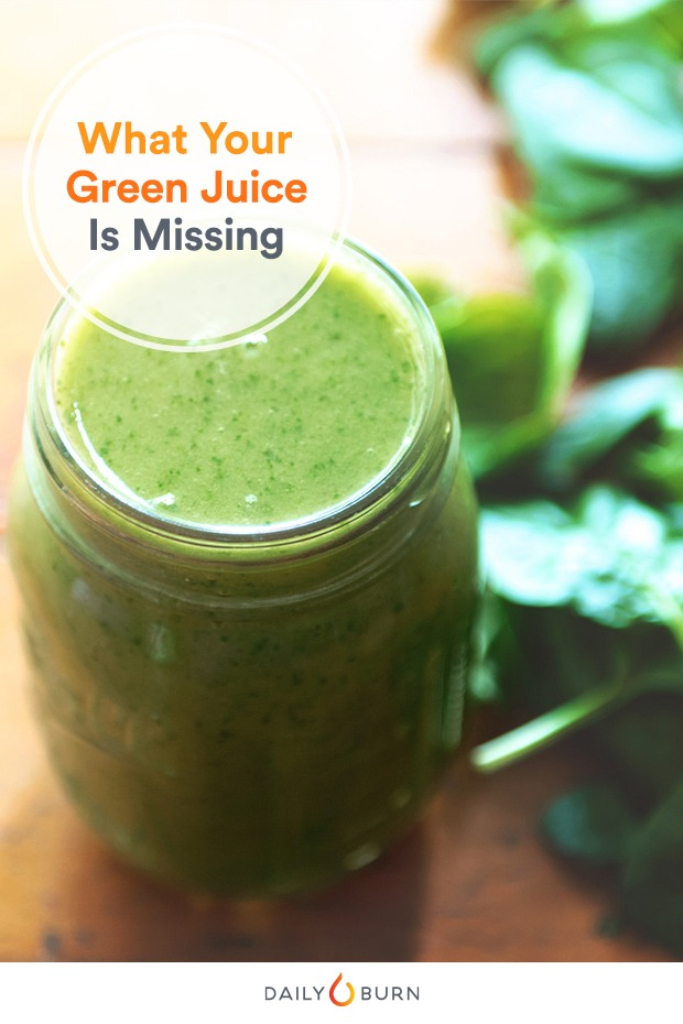 DailyBurn.com :  Is Your Green Juice Missing One of These Key Ingredients?  If you're new to juicing, be mindful of where you start.