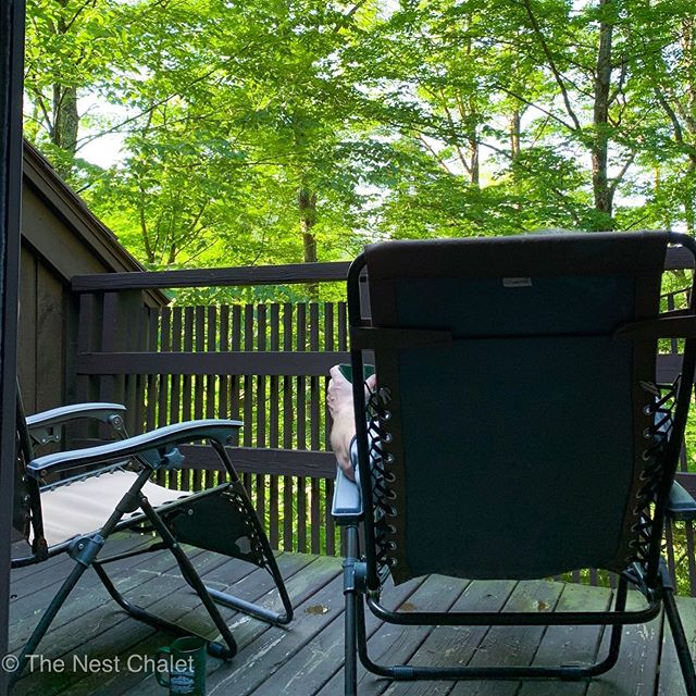 Mornings at The Nest are so peaceful and tranquil. Listening  to nature and breathing in the clean air is great way to start your day.  #thenestchalet #vermont #mornings #vermontlife #vermontmornings #vacationvermont #airbnbvermont #vermontrental #vermontsummer #nature #cabin #cabininthewoods #vermontcabin #forestlandscape #getoutside #freshair