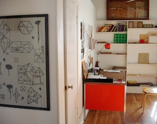 Random Geometry framed sheet, photo courtesy of Alyson Fox.