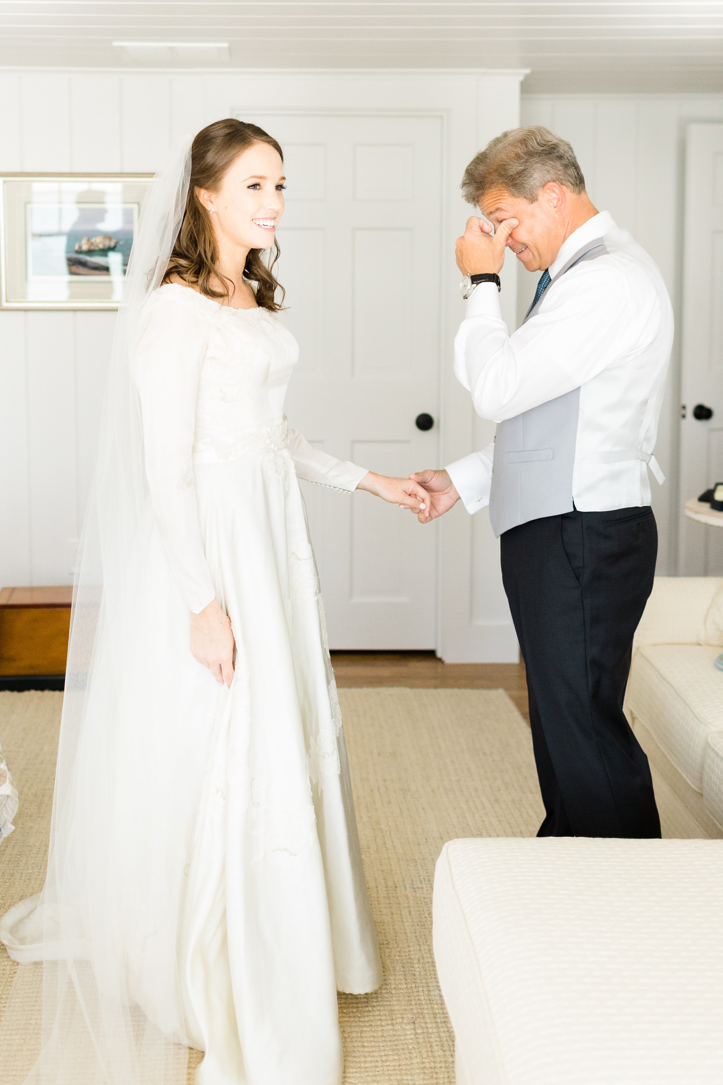 Bride_And_Dad_First_Look_Cape_Cod