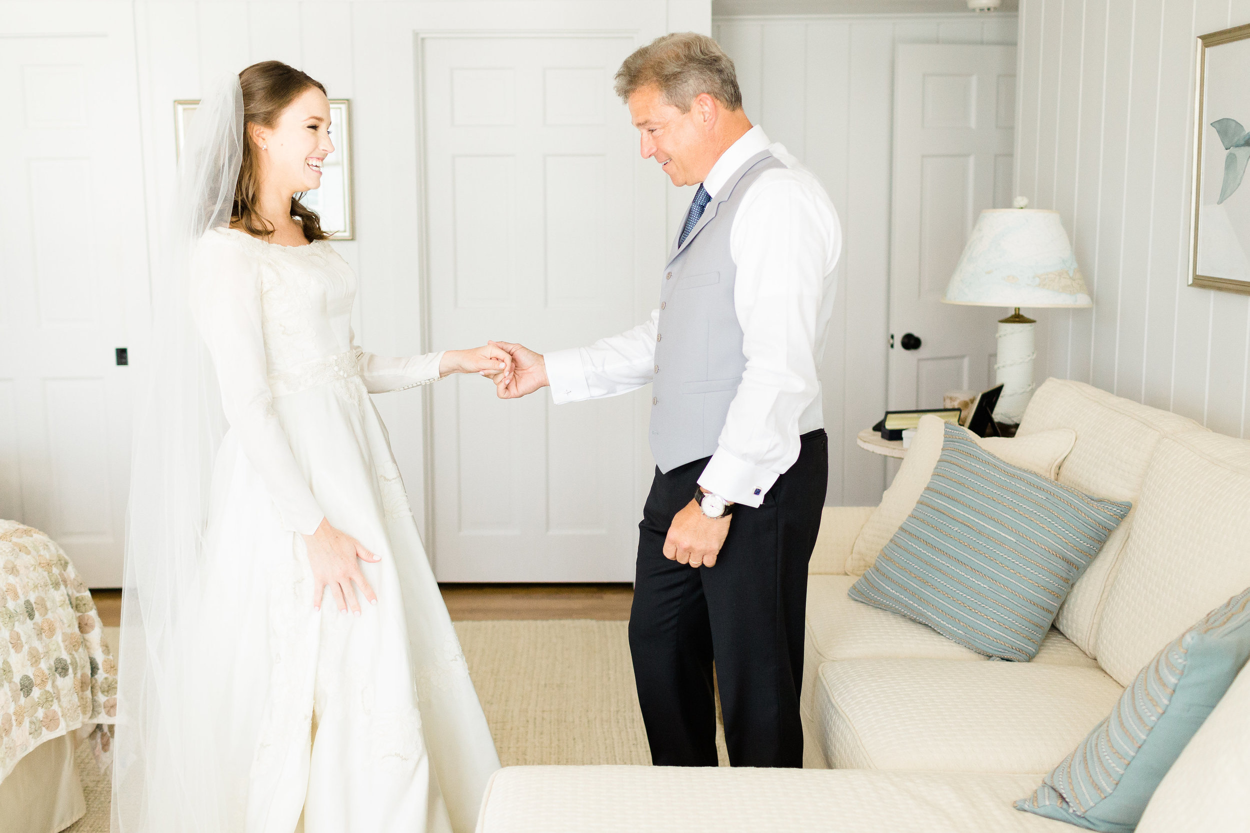 Bride_And_Dad_First_Look_Cape_Cod_Wedding