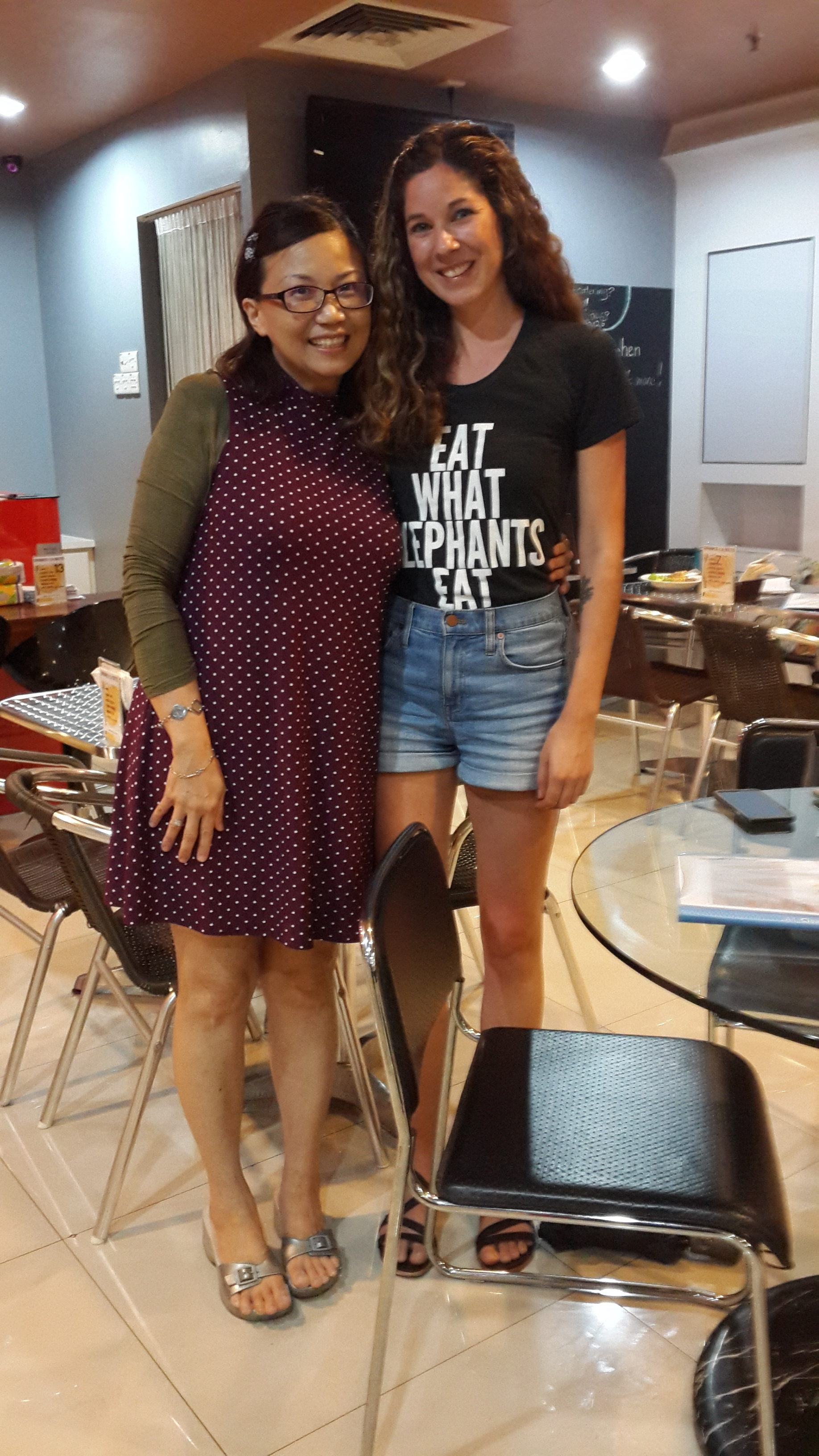 With the owner of Sunfresh Detox Kitchen, Sinde Lo