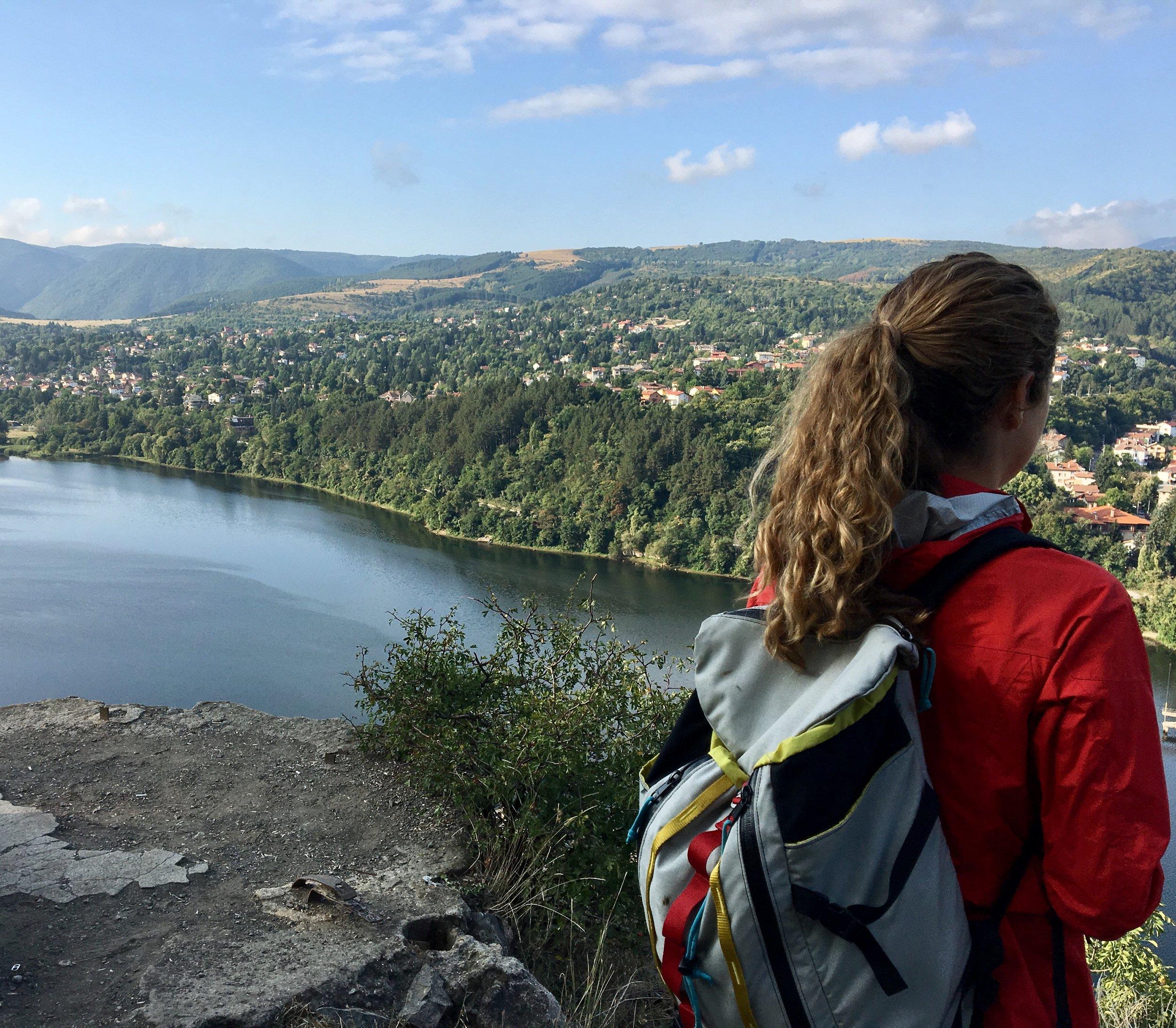 Silent Meditation Hike overlooking Pancharevo Lake in Bulgaria.