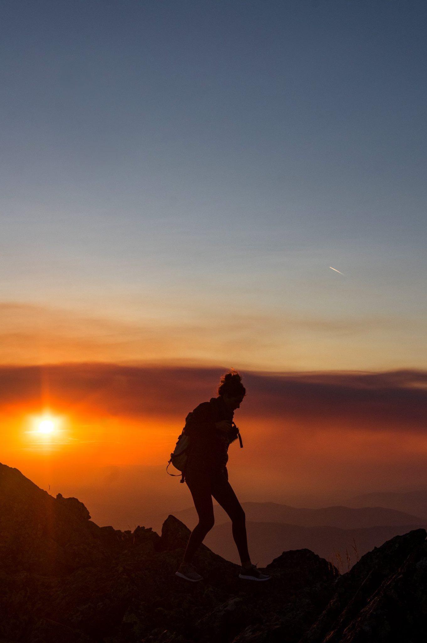 September sunset hike on Vitosha Mountain in Sofia, Bulgaria
