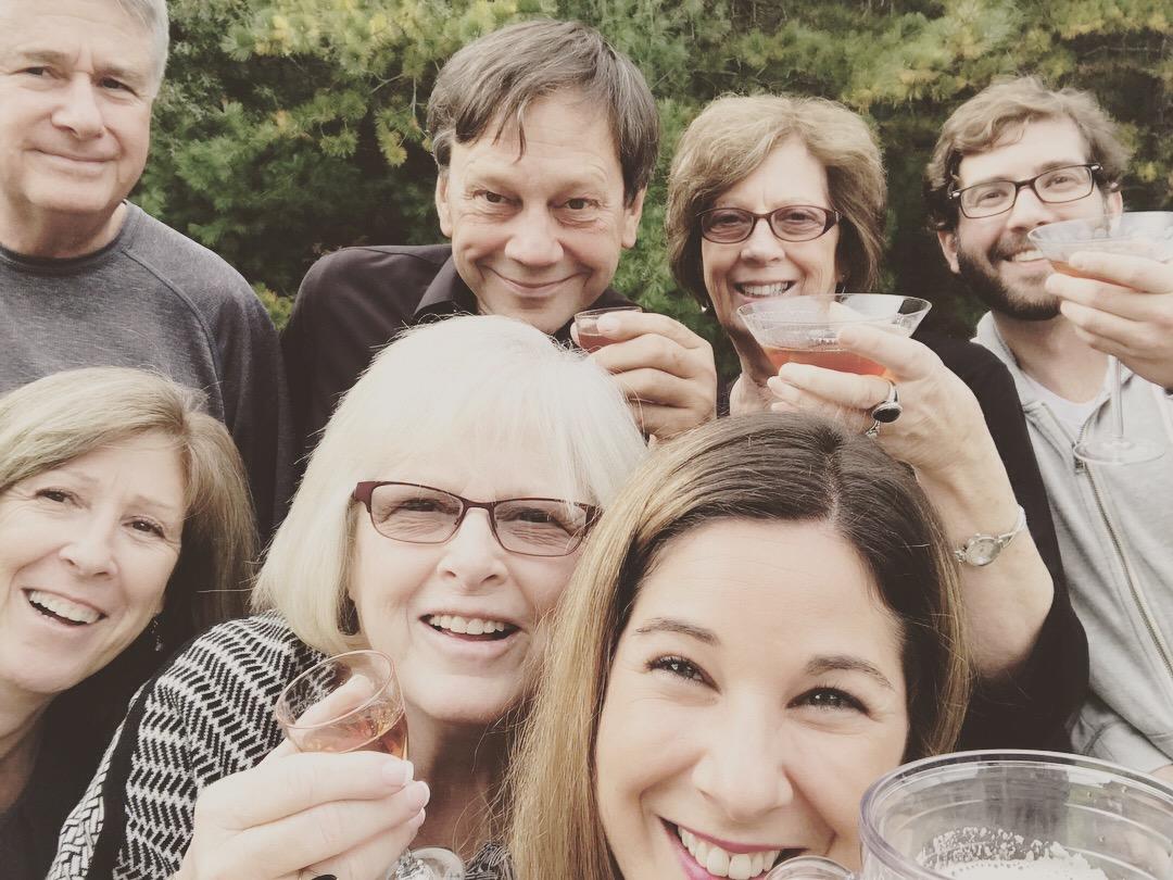 My family celebrating my grandfather's life last week