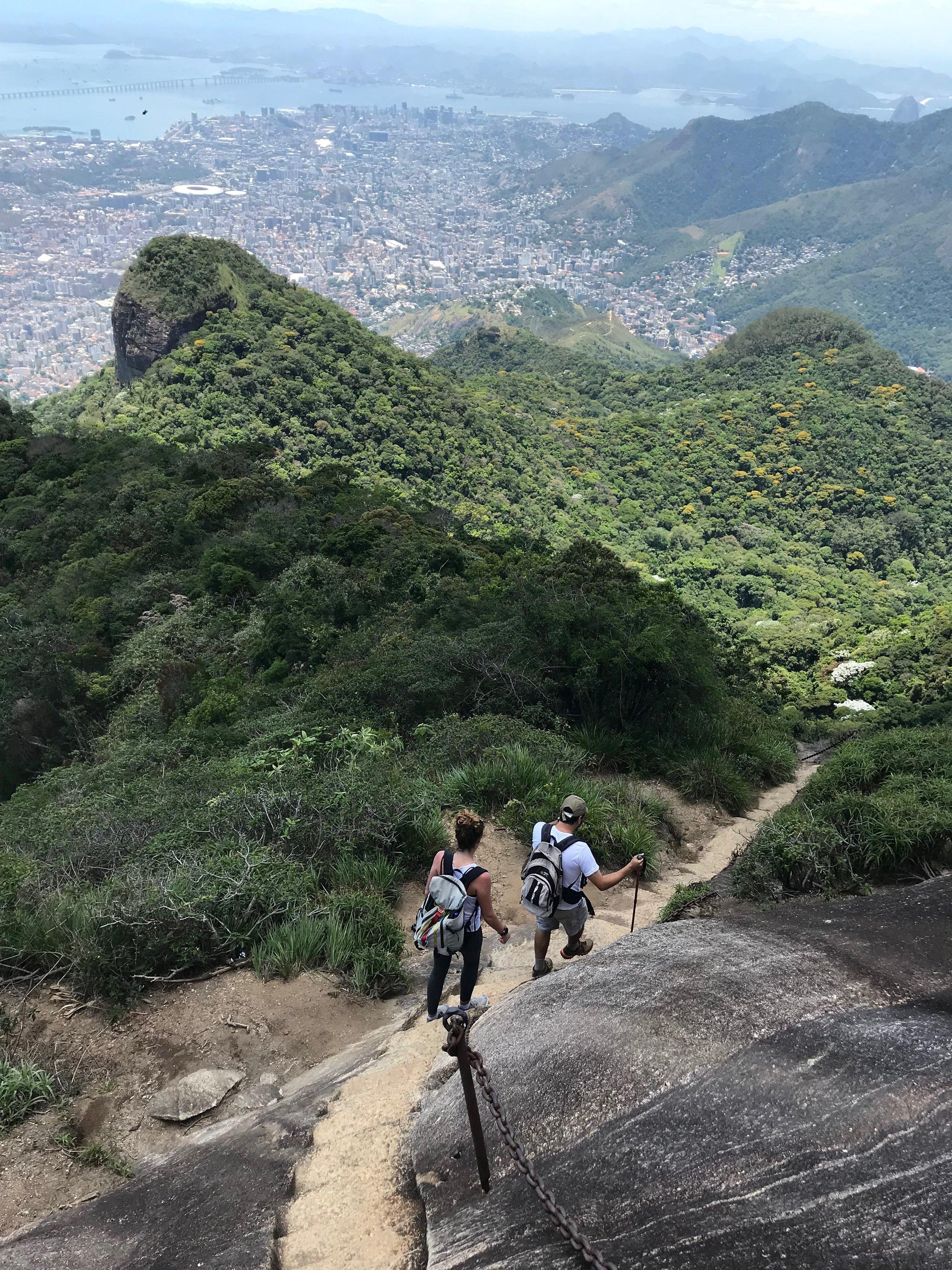 Hiking in Rio de Janeiro, Brazil