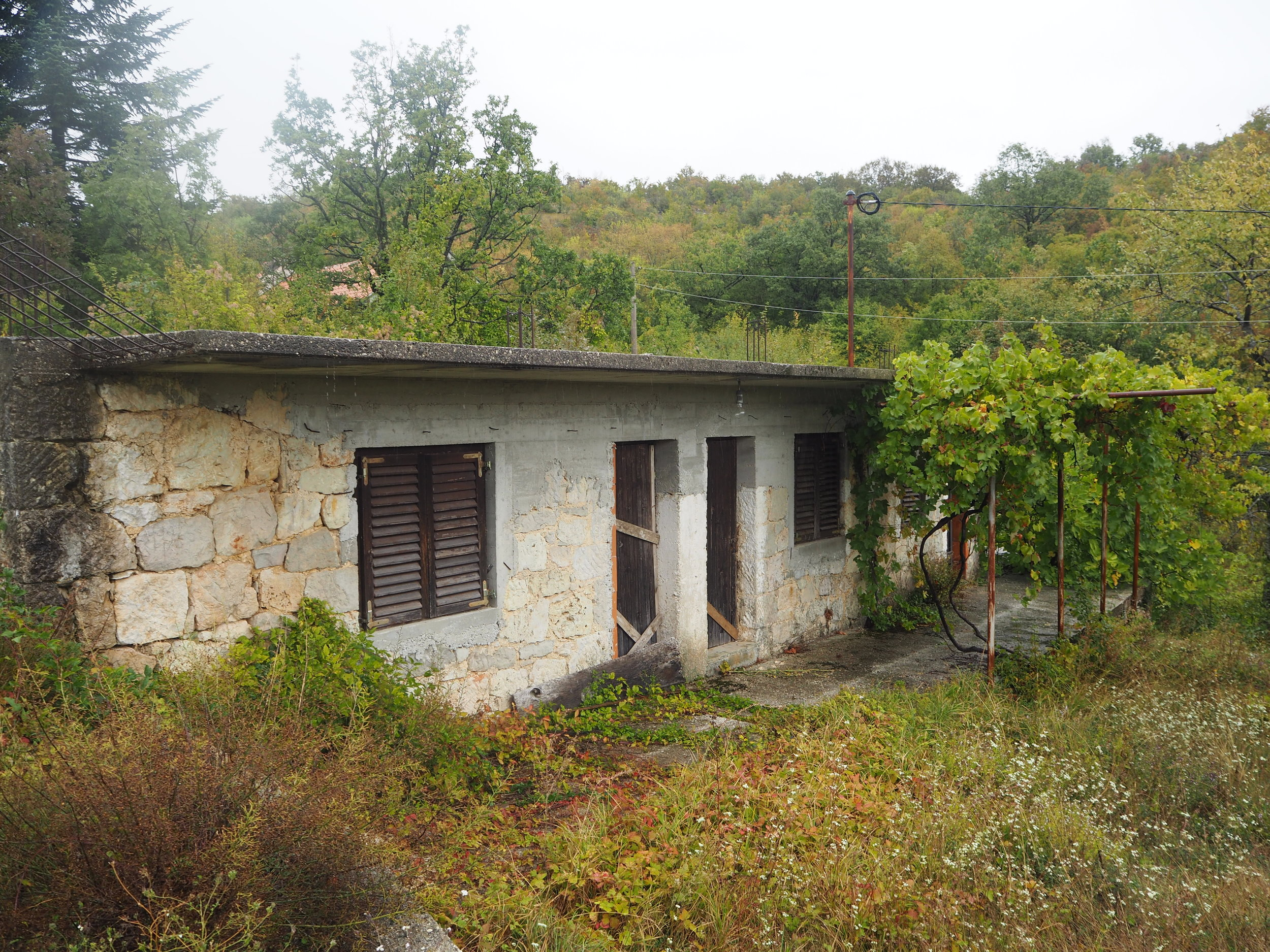 The stone cottage where my dad grew up in Hercegovina