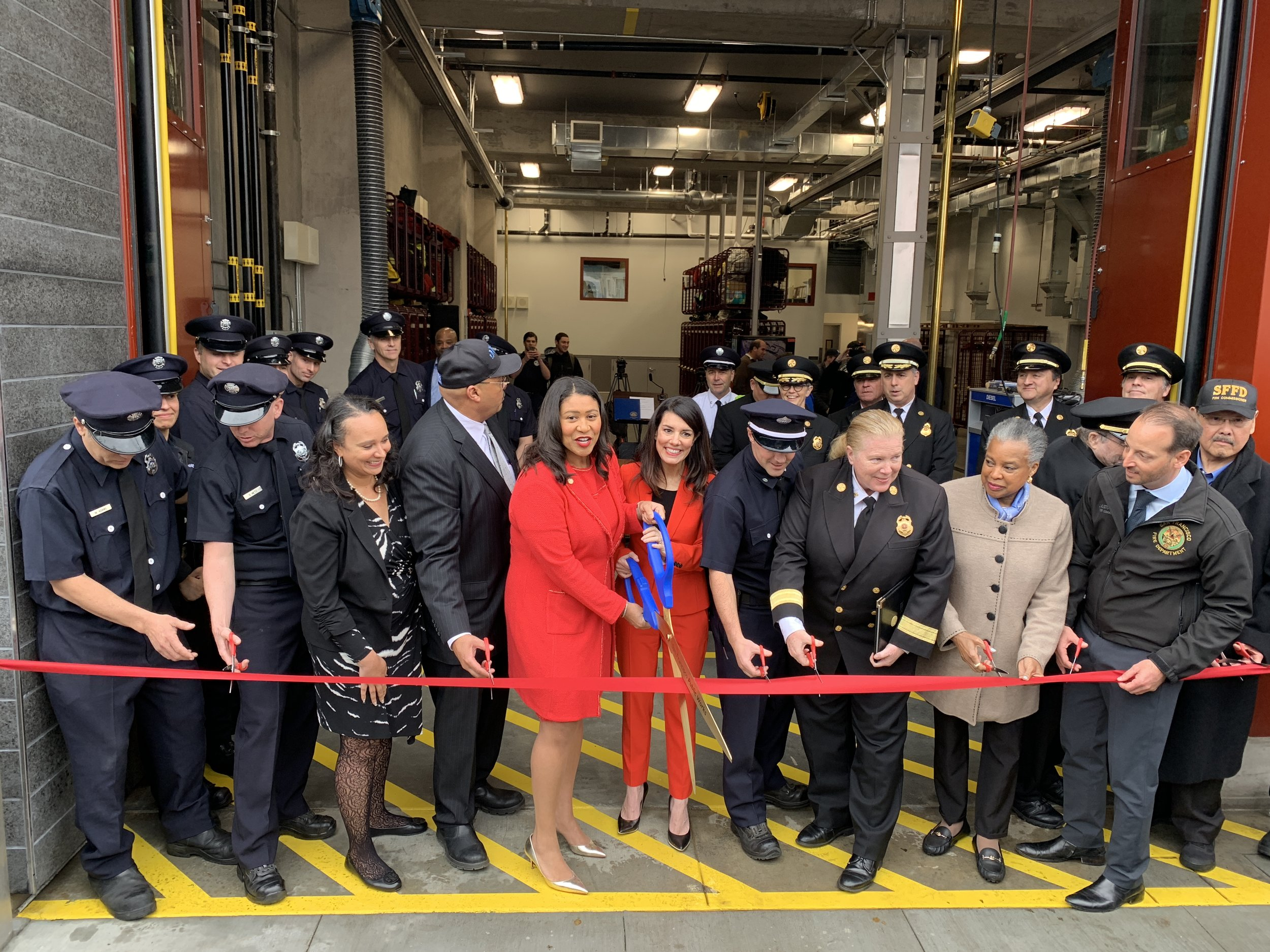 San Francisco Mayor London Breed at the Ribbon Cutting Ceremony on January 31, 2019.