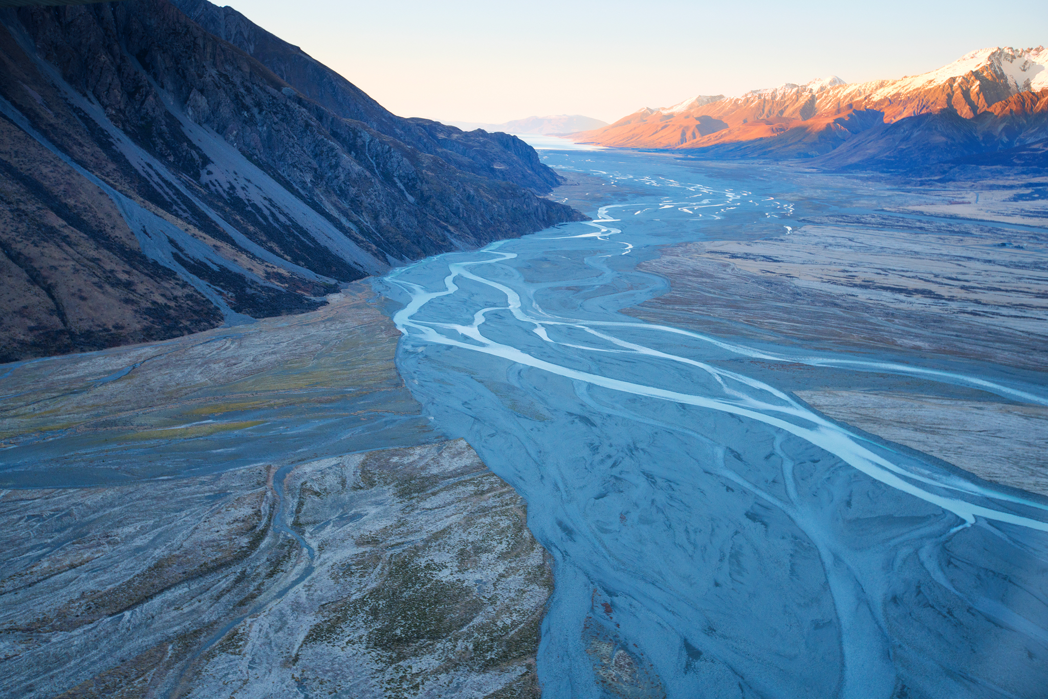 Mt Cook Flight Rivers