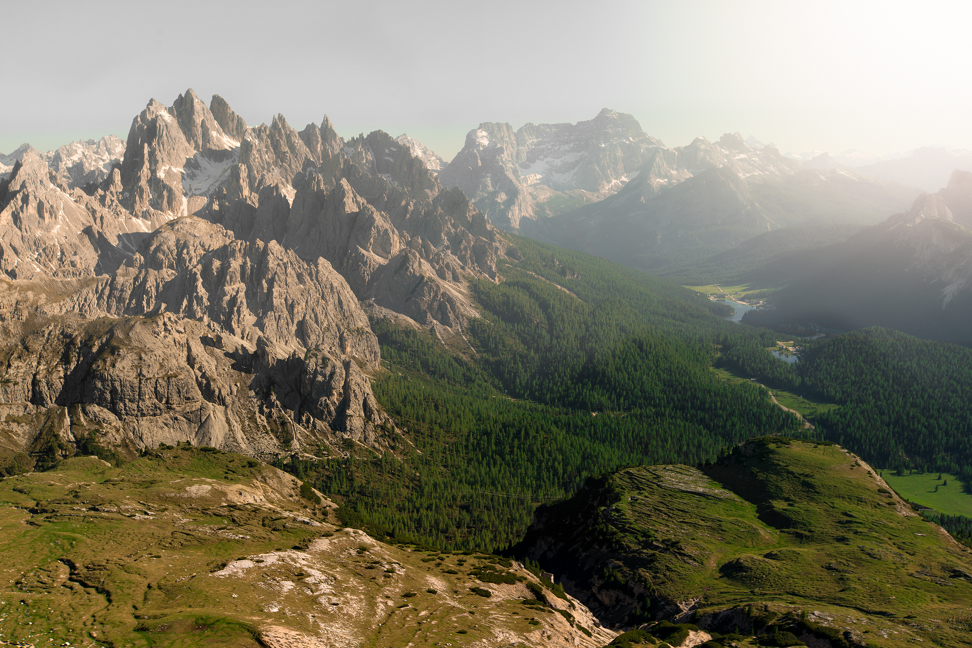 View From Tre Cime Summit reverse