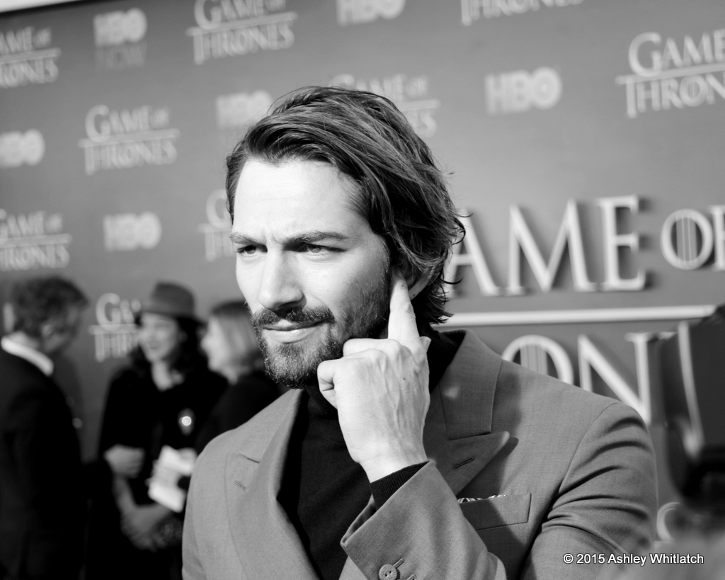 Michiel Huisman at the Season 5 Game of Thrones premiere in San Francisco.