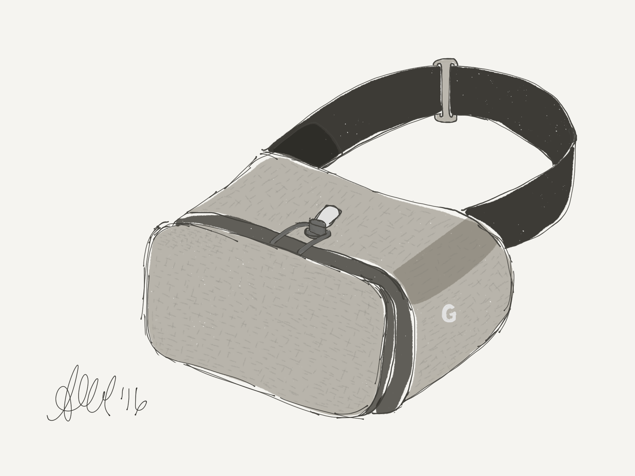 Google Daydream VR headset - artist ashley whitlatch.png