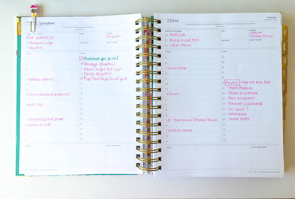 Six ways to stay organized in Business   Make physical lists with pen and paper   casilong.com/blog   #casilongdesign #fearlesspursuit