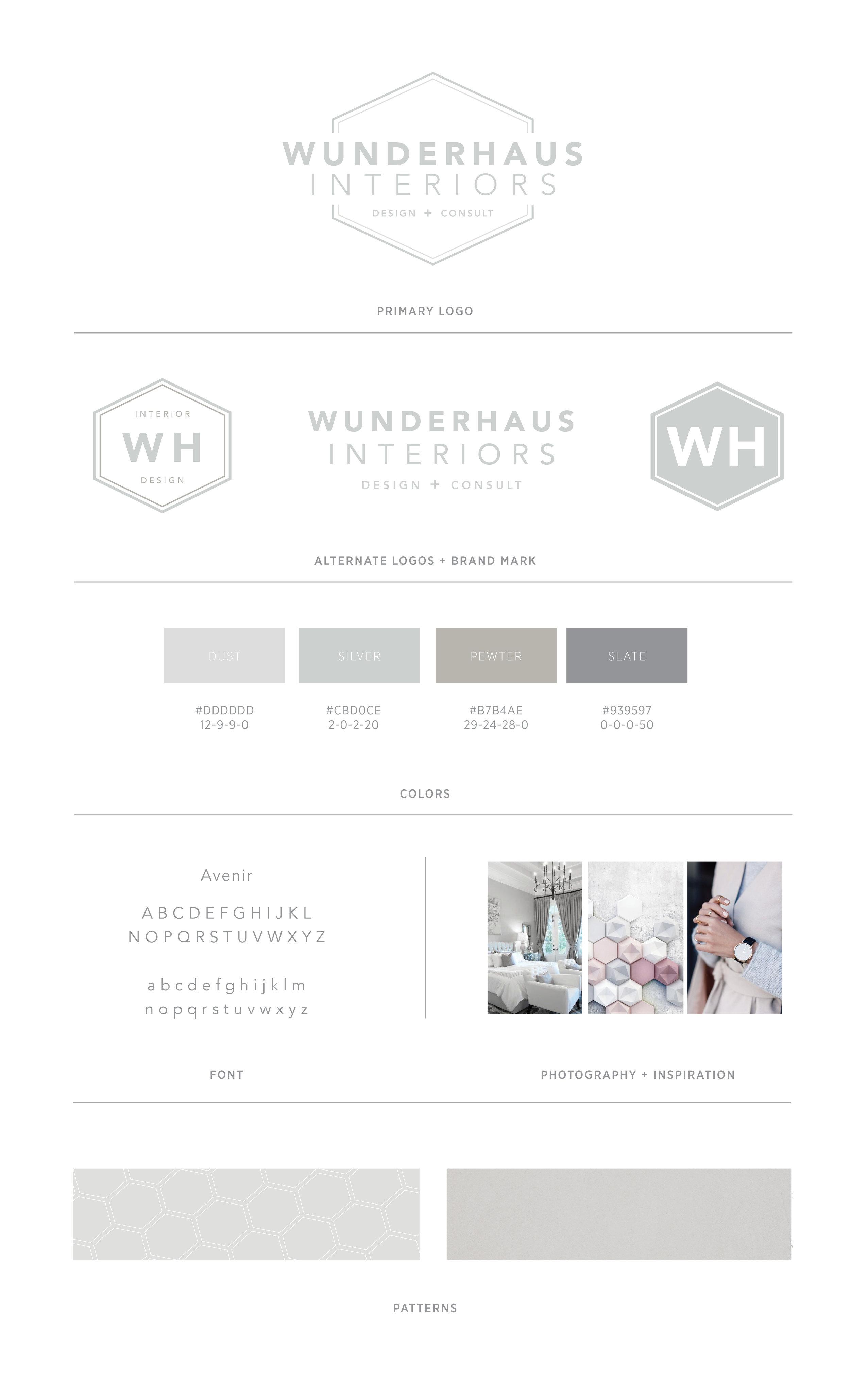 Branding design for Wunderhaus Interiors   casilong.com #casilongdesign #fearlesspursuit #branding #branddesign