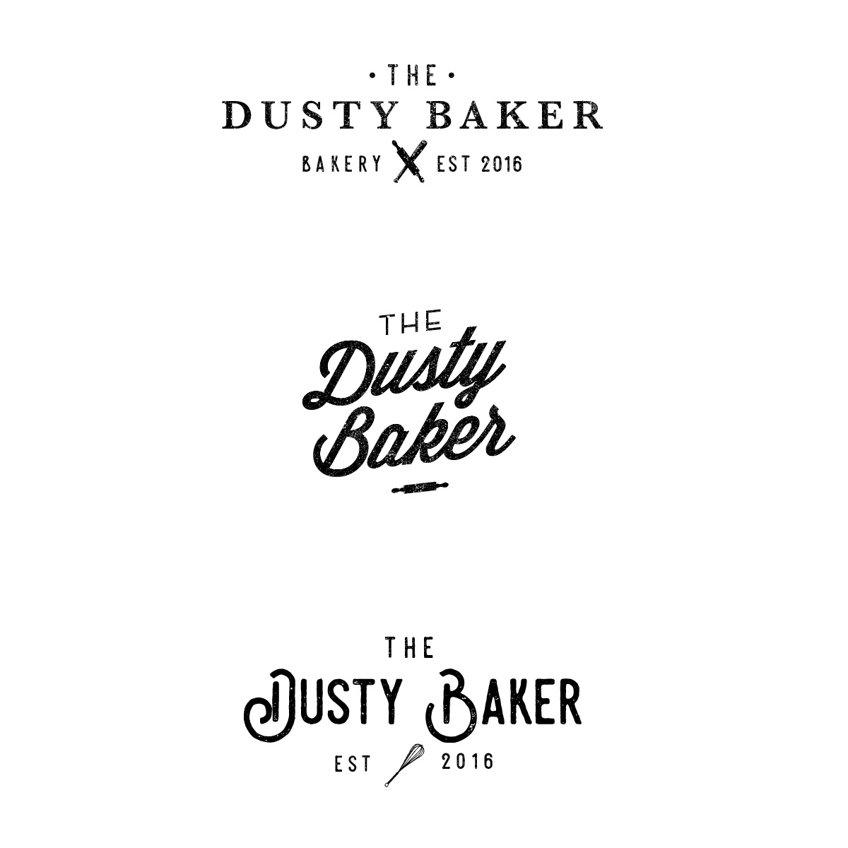 Logo Concepts | Brand + Website Design by Casi Long Design | The Dusty Baker Bakery | casilong.com #casilongdesign #fearlesspursuit