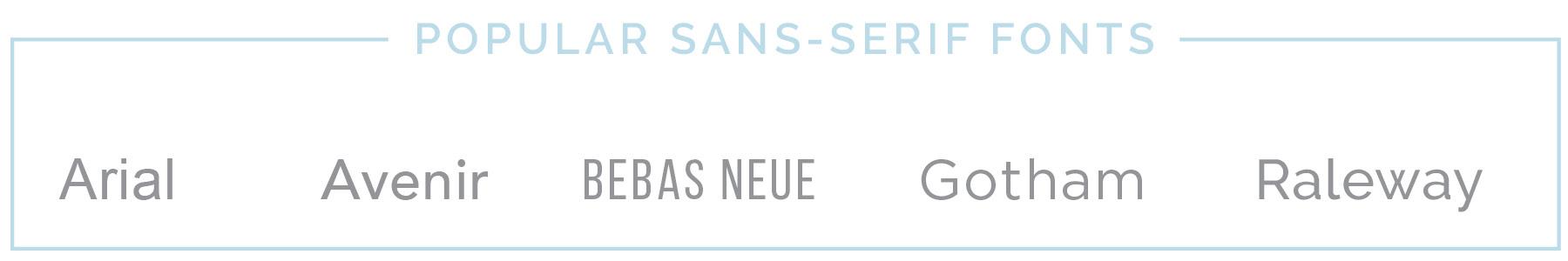 Popular Sans-serif fonts | casilong.com #casilongdesign