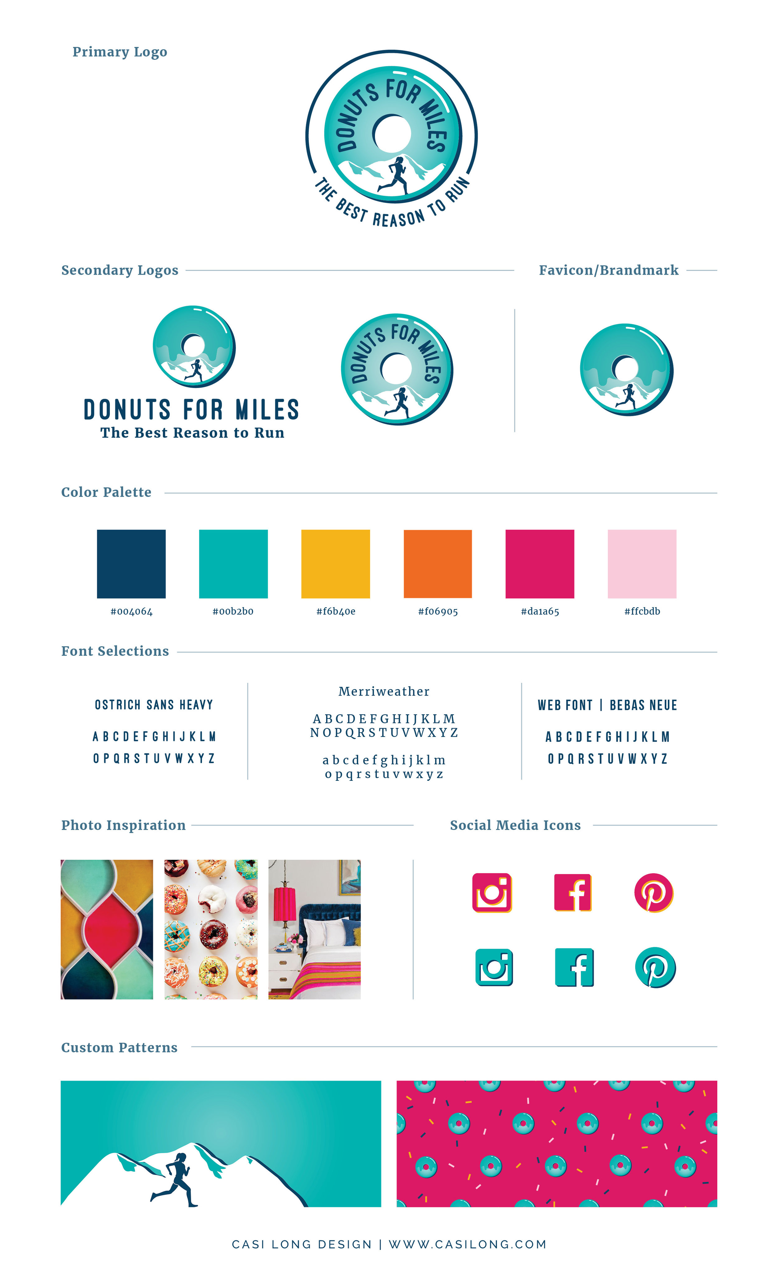 Style Guide for Donuts for Miles | Branding by Casi Long Design | www.casilong.com #casilongdesign