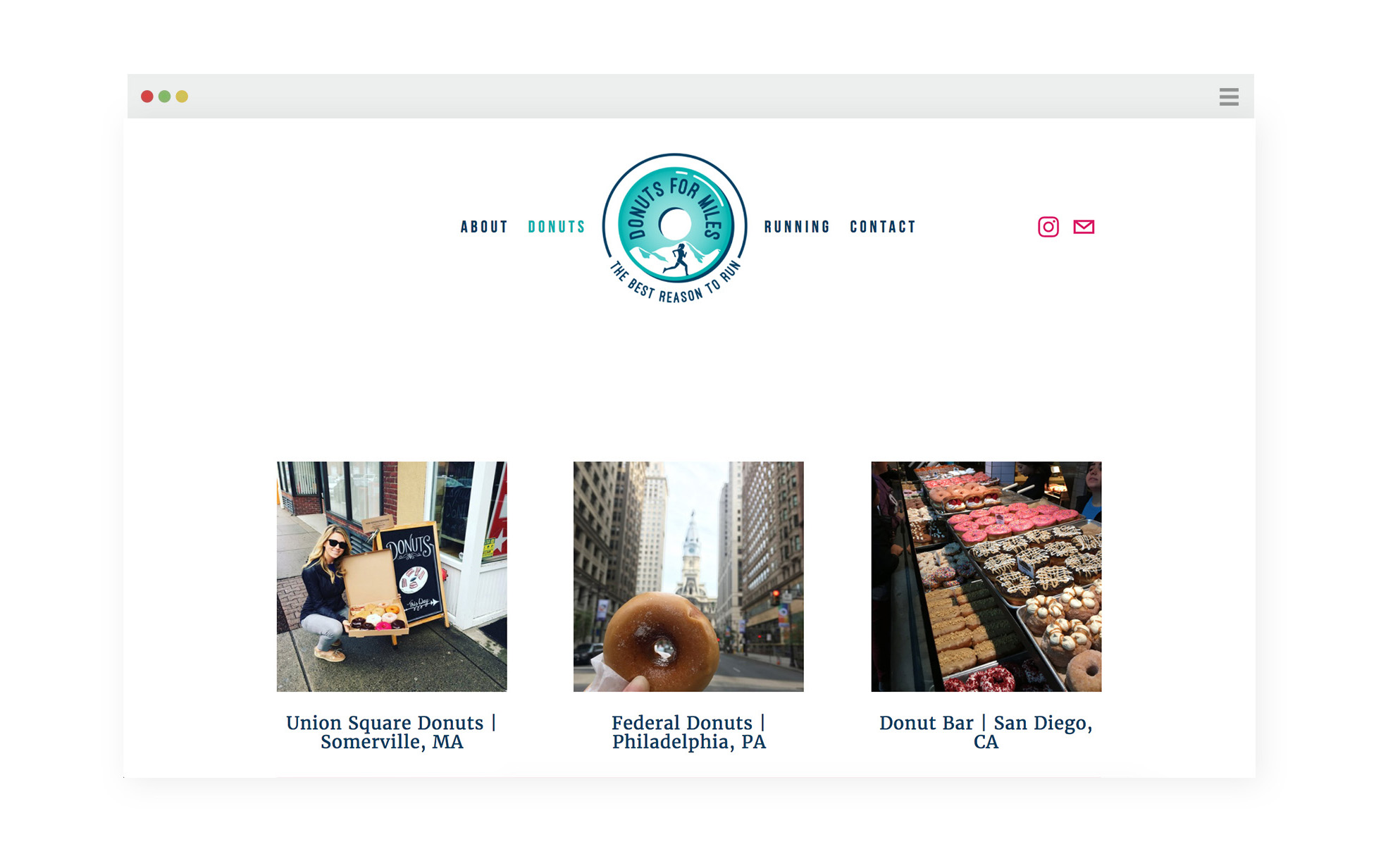 Website for Donuts for Miles | Branding by Casi Long Design | www.casilong.com #casilongdesign