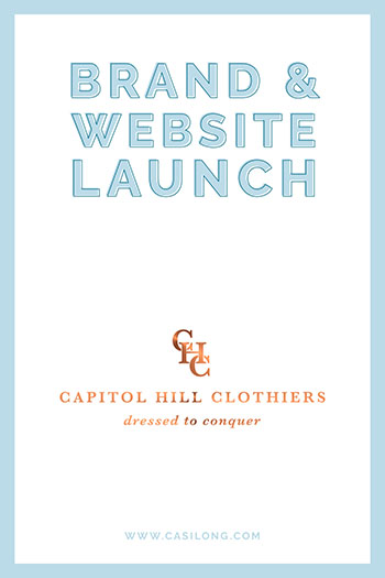 Brand Launch Capitol Hill Clothiers