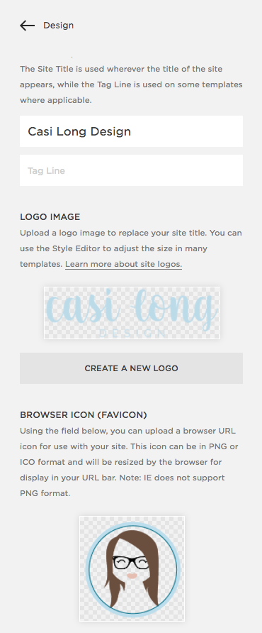 How to add Favicon | 5 Impactful Ways to Customize your Squarespace Template | casilong.com/blog #casilongdesign