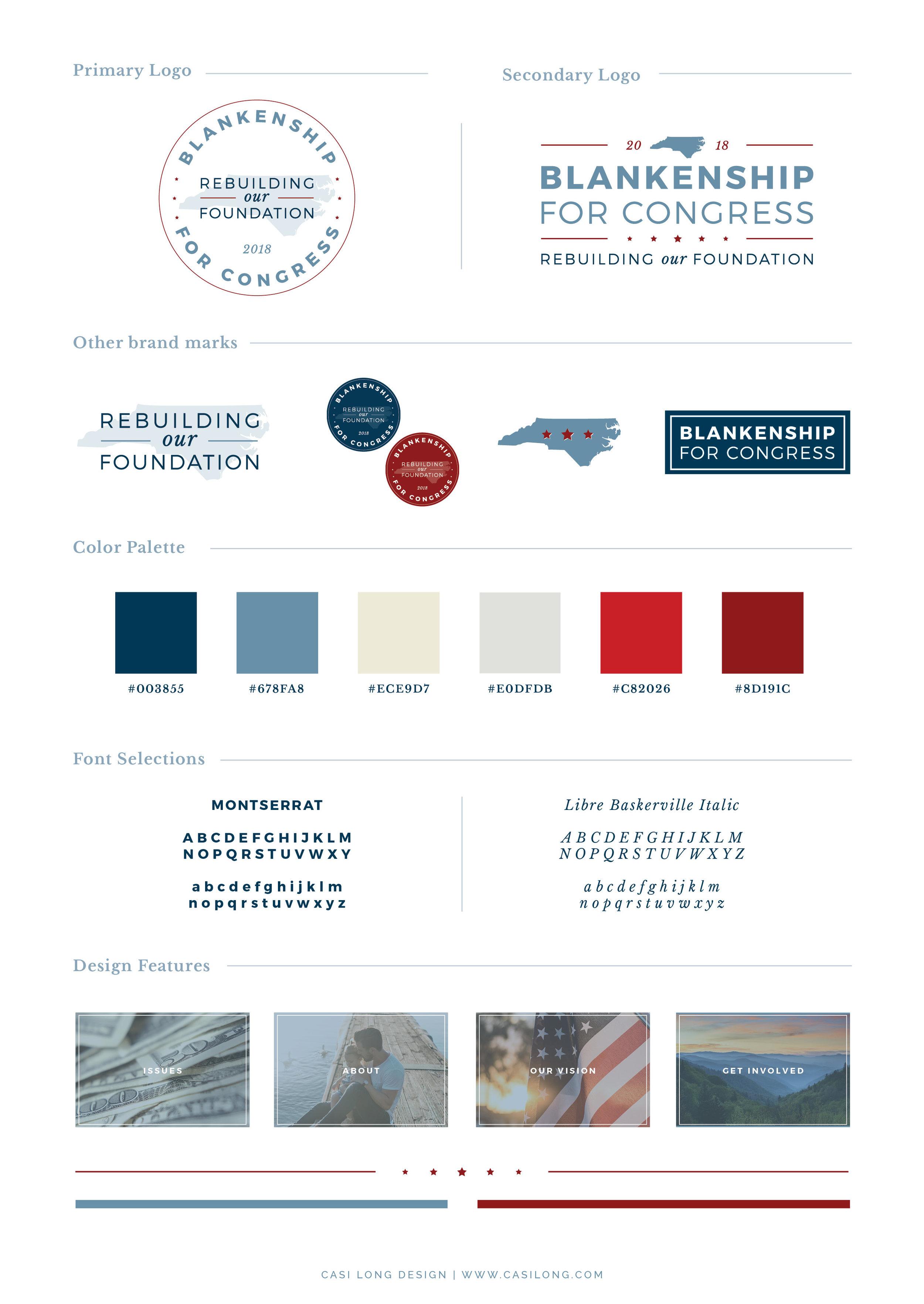 Style Guide | Blankenship for Congress | www.blankenshipforcongress.com