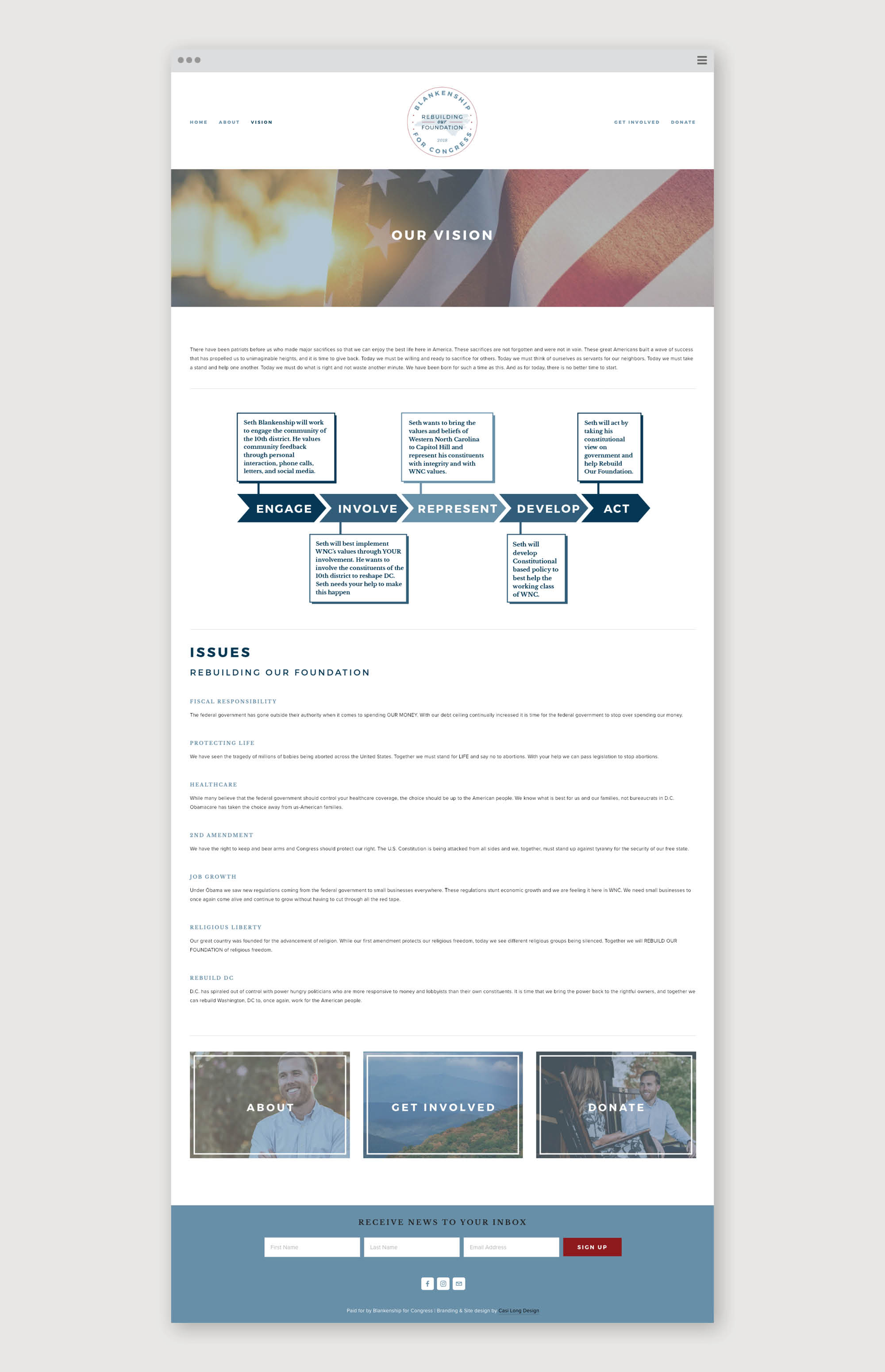 Blankenship for Congress | Website by Casi Long Design | casilong.com