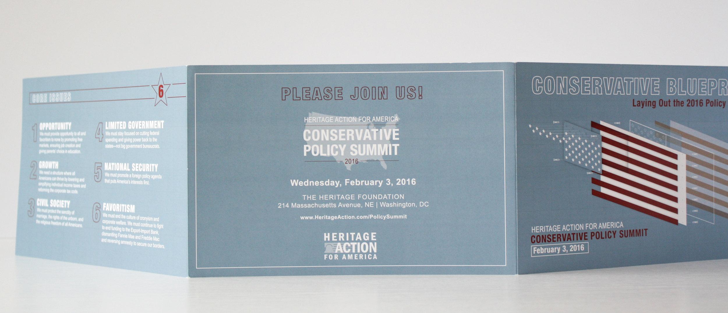 Conservative Policy Summit Corporate Event Invitation | Casi Long Design | casilong.com:portfolio | #casilongdesign #fearlesspursuit 6.jpg