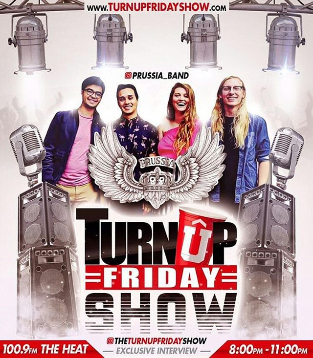 We will be doing an interview tomorrow on @theturnupfridayshow 100.9 The Heat 8pm-11pm! They will also be spinning our new song Hello! Shout out to @djmaventertainment for having us! . . . #prussia #prussiaband #funkmusic #soulmusic #turnupfridayshow #unsignedhype #lamusicscene #liveforlivemusic #buzzbandsla #1009theheat #radio #labands #laband