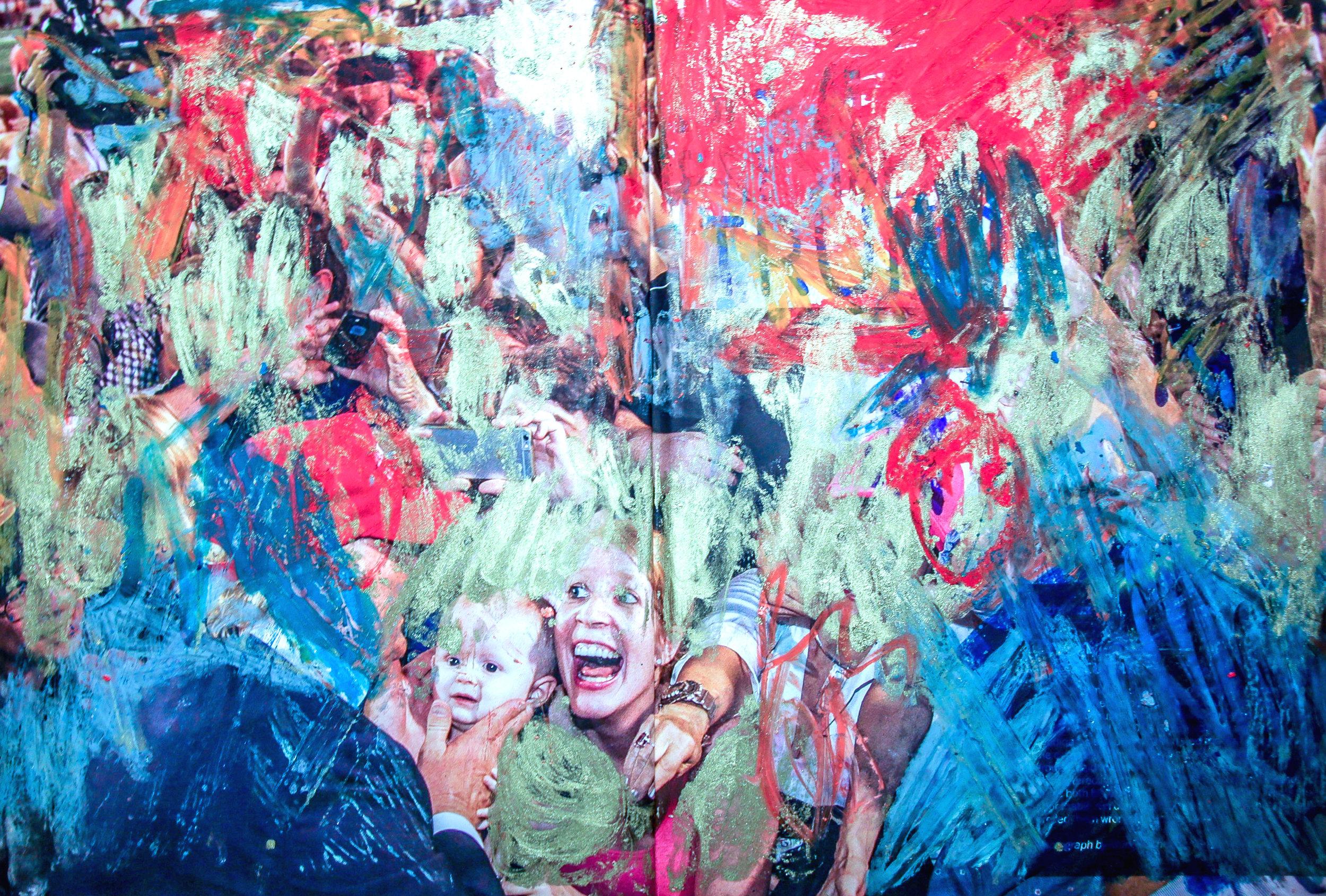 TRU , Sarah Palmeri, 16 x 11 inches, oil on magazine spread, 2016